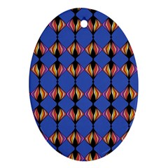 Abstract Lines Seamless Pattern Oval Ornament (two Sides)