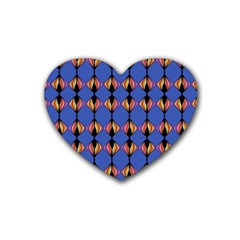 Abstract Lines Seamless Pattern Heart Coaster (4 Pack)