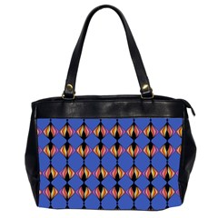 Abstract Lines Seamless Pattern Office Handbags (2 Sides)