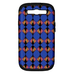 Abstract Lines Seamless Pattern Samsung Galaxy S III Hardshell Case (PC+Silicone)