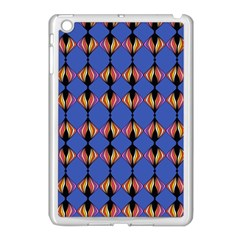 Abstract Lines Seamless Pattern Apple iPad Mini Case (White)