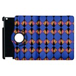 Abstract Lines Seamless Pattern Apple iPad 3/4 Flip 360 Case Front