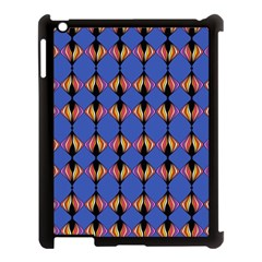 Abstract Lines Seamless Pattern Apple iPad 3/4 Case (Black)