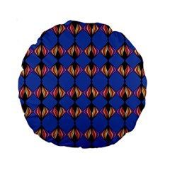Abstract Lines Seamless Pattern Standard 15  Premium Round Cushions