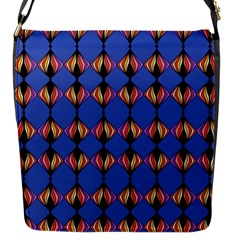 Abstract Lines Seamless Pattern Flap Messenger Bag (S)