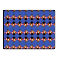 Abstract Lines Seamless Pattern Double Sided Fleece Blanket (Small)
