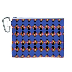 Abstract Lines Seamless Pattern Canvas Cosmetic Bag (L)