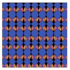 Abstract Lines Seamless Pattern Large Satin Scarf (square)