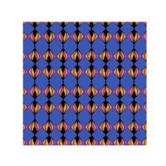 Abstract Lines Seamless Pattern Small Satin Scarf (Square)