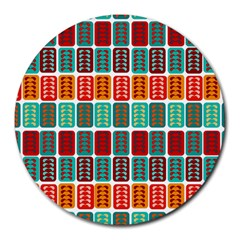 Bricks Abstract Seamless Pattern Round Mousepads