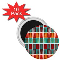 Bricks Abstract Seamless Pattern 1.75  Magnets (10 pack)