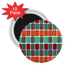 Bricks Abstract Seamless Pattern 2 25  Magnets (10 Pack)