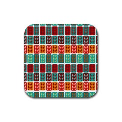 Bricks Abstract Seamless Pattern Rubber Coaster (Square)