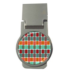 Bricks Abstract Seamless Pattern Money Clips (round)