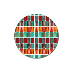 Bricks Abstract Seamless Pattern Magnet 3  (Round)