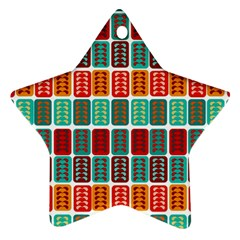 Bricks Abstract Seamless Pattern Star Ornament (two Sides)