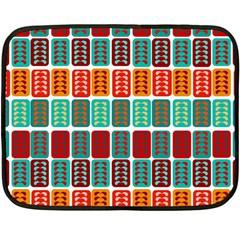 Bricks Abstract Seamless Pattern Fleece Blanket (mini)