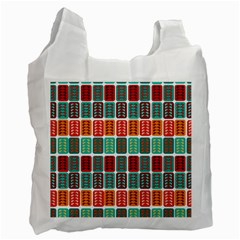 Bricks Abstract Seamless Pattern Recycle Bag (two Side)