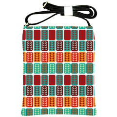 Bricks Abstract Seamless Pattern Shoulder Sling Bags