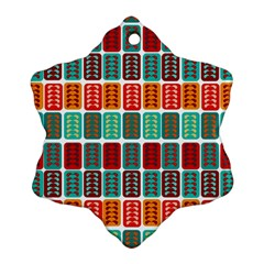 Bricks Abstract Seamless Pattern Snowflake Ornament (two Sides)
