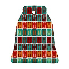 Bricks Abstract Seamless Pattern Bell Ornament (two Sides)