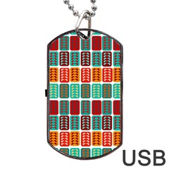 Bricks Abstract Seamless Pattern Dog Tag USB Flash (One Side)