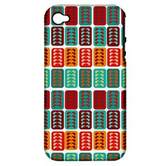 Bricks Abstract Seamless Pattern Apple iPhone 4/4S Hardshell Case (PC+Silicone)