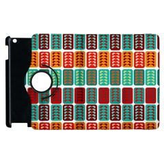 Bricks Abstract Seamless Pattern Apple iPad 2 Flip 360 Case