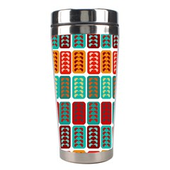 Bricks Abstract Seamless Pattern Stainless Steel Travel Tumblers