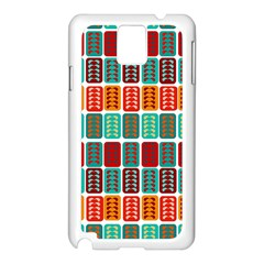 Bricks Abstract Seamless Pattern Samsung Galaxy Note 3 N9005 Case (White)