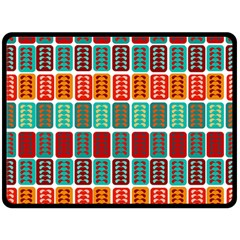 Bricks Abstract Seamless Pattern Double Sided Fleece Blanket (Large)