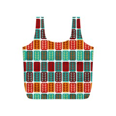 Bricks Abstract Seamless Pattern Full Print Recycle Bags (S)