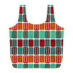Bricks Abstract Seamless Pattern Full Print Recycle Bags (L)