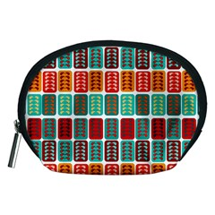 Bricks Abstract Seamless Pattern Accessory Pouches (Medium)