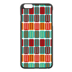 Bricks Abstract Seamless Pattern Apple iPhone 6 Plus/6S Plus Black Enamel Case