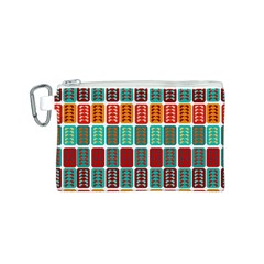 Bricks Abstract Seamless Pattern Canvas Cosmetic Bag (S)