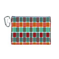 Bricks Abstract Seamless Pattern Canvas Cosmetic Bag (M)