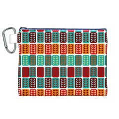 Bricks Abstract Seamless Pattern Canvas Cosmetic Bag (XL)