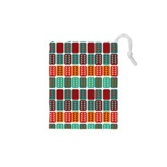Bricks Abstract Seamless Pattern Drawstring Pouches (xs)