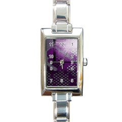 Evil Moon Dark Background With An Abstract Moonlit Landscape Rectangle Italian Charm Watch