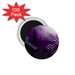Evil Moon Dark Background With An Abstract Moonlit Landscape 1 75  Magnets (100 Pack)