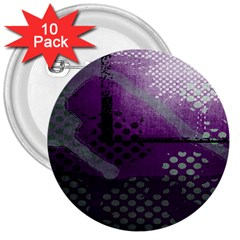 Evil Moon Dark Background With An Abstract Moonlit Landscape 3  Buttons (10 pack)