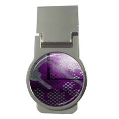 Evil Moon Dark Background With An Abstract Moonlit Landscape Money Clips (round)