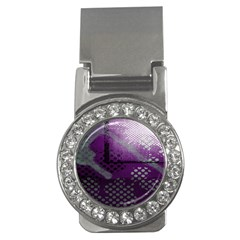 Evil Moon Dark Background With An Abstract Moonlit Landscape Money Clips (cz)