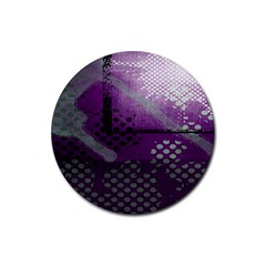 Evil Moon Dark Background With An Abstract Moonlit Landscape Rubber Round Coaster (4 Pack)