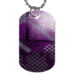 Evil Moon Dark Background With An Abstract Moonlit Landscape Dog Tag (One Side)