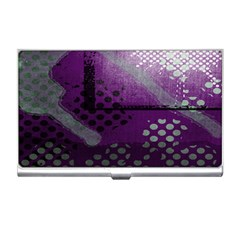 Evil Moon Dark Background With An Abstract Moonlit Landscape Business Card Holders