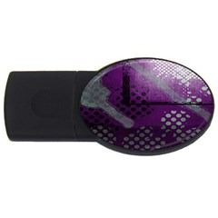 Evil Moon Dark Background With An Abstract Moonlit Landscape Usb Flash Drive Oval (2 Gb)