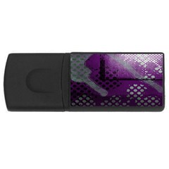 Evil Moon Dark Background With An Abstract Moonlit Landscape USB Flash Drive Rectangular (1 GB)