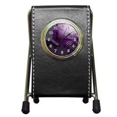 Evil Moon Dark Background With An Abstract Moonlit Landscape Pen Holder Desk Clocks